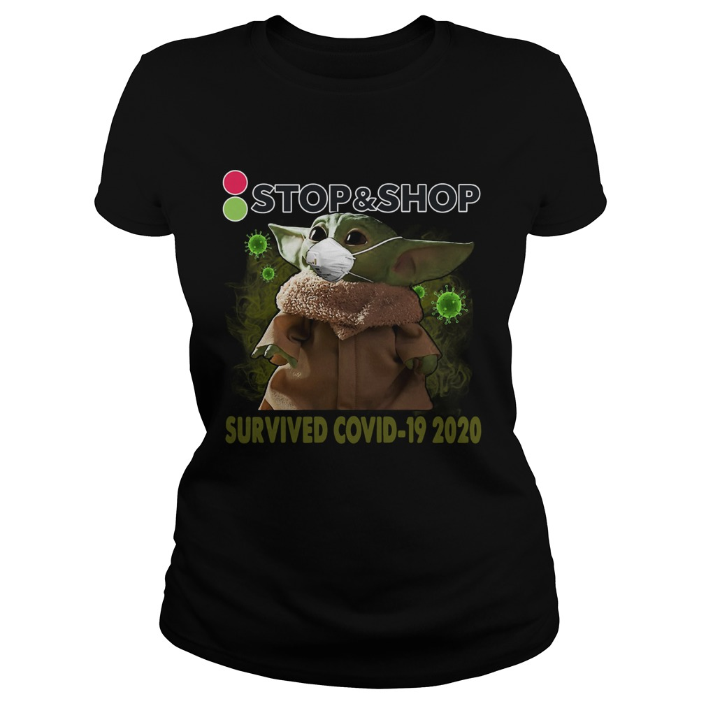 Baby Yoda StopShop Survived Covid 19 2020  Classic Ladies