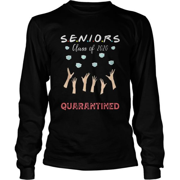 Face Mask Senior Class Of 2020 Graduation Quarantined  Long Sleeve
