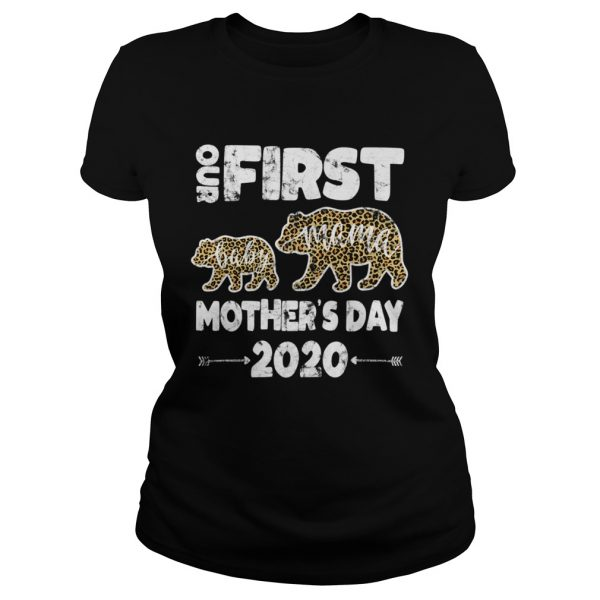First mothers day mom baby bear Leopard Plaid new mom  Classic Ladies