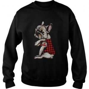 French Bulldog Tattoo I Love Mommy Animal Lover  Sweatshirt
