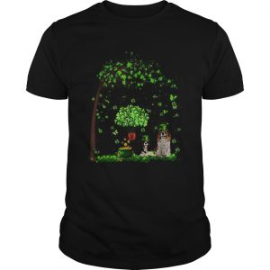 Leprechaun Cavalier King Charles Spaniel Tree Patricks Day  Unisex