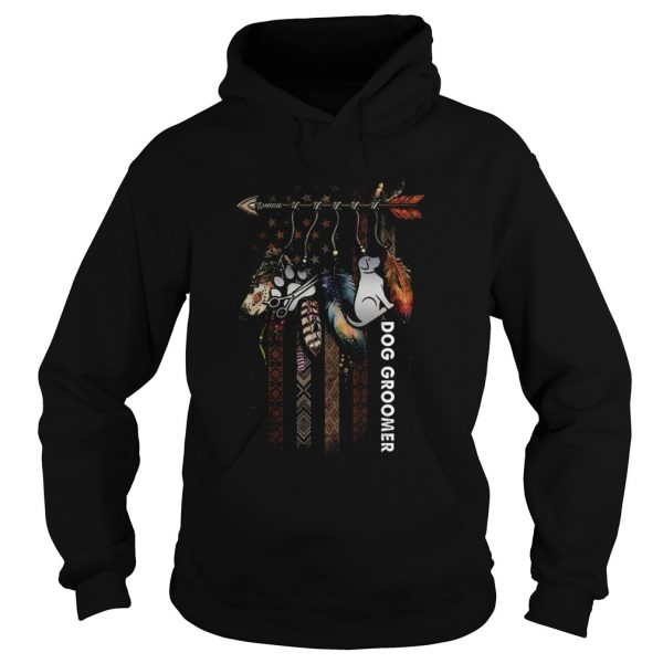 Nice Dream Catcher Native American Flag Dog Groomer  Hoodie