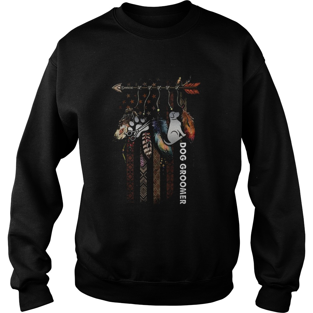 Nice Dream Catcher Native American Flag Dog Groomer  Sweatshirt