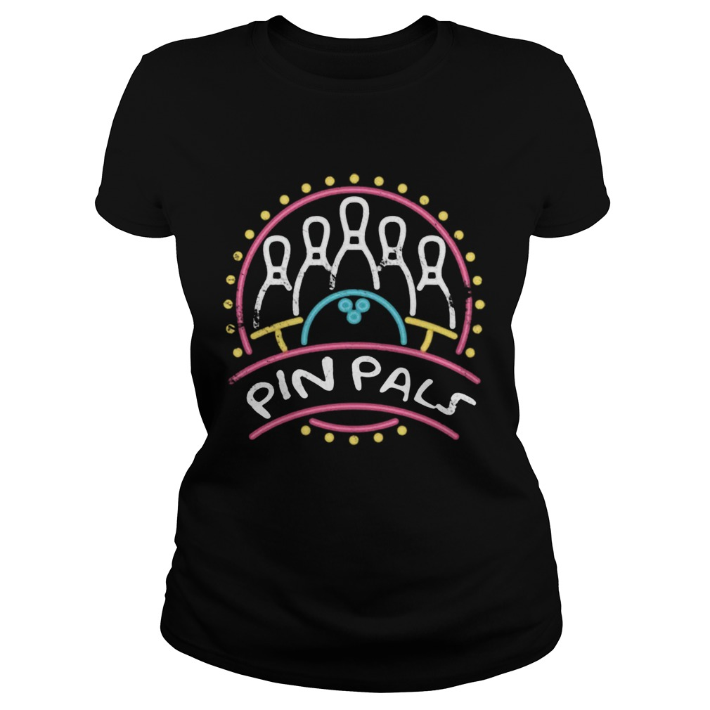 Pin Pals SIMPSONS Bowling Team Distressed  Classic Ladies