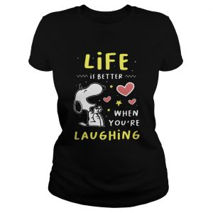 Snoopy Life Is Better When Youre Laughing  Classic Ladies