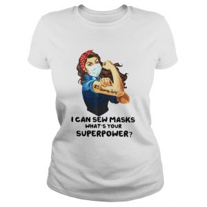 Strong Woman Tattoo Serving Lady I Can Sew Masks Whats Your Superpower  Classic Ladies