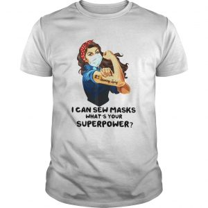 Strong Woman Tattoo Serving Lady I Can Sew Masks Whats Your Superpower  Unisex