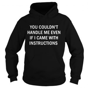You Couldnt Handle Me Even If I Came With Instructions  Hoodie
