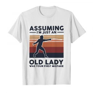 Fencing Assuming I'm Just An Old Lady Was Your First Mistake Vintage  Classic Men's T-shirt