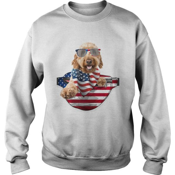 Goldendoodle waist pack american flag independence day  Sweatshirt