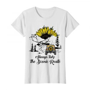 Jeep Sunflower Alway Take The Scenic Route  Classic Women's T-shirt