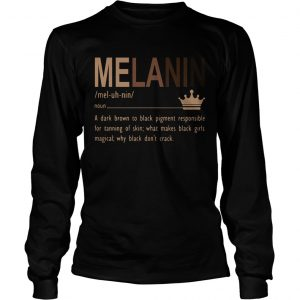 Melanin a dark brown to black pigment responsible for tanning of skin  Long Sleeve