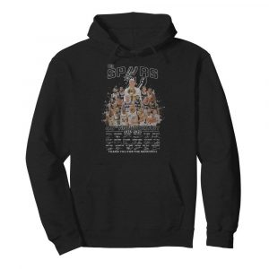 The san antonio spurs 45th anniversary 1976 2021 thank you for the memories signatures  Unisex Hoodie