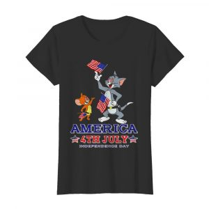 Tom And Jerry America 4th July Independence Day  Classic Women's T-shirt