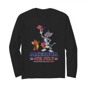 Tom And Jerry America 4th July Independence Day  Long Sleeved T-shirt