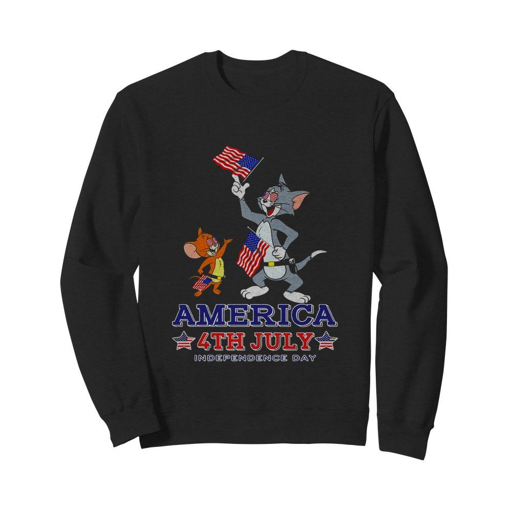 Tom And Jerry America 4th July Independence Day  Unisex Sweatshirt