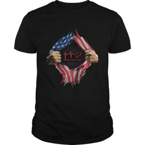Blood insides faith hope love american flag independence day  Unisex
