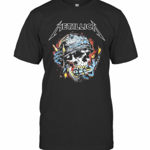 Skull Metallica Disarm Fire T-Shirt Classic Men's T-shirt