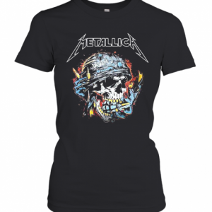 Skull Metallica Disarm Fire T-Shirt Classic Women's T-shirt