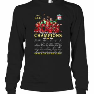 The Liverpool Fc Champions Premier League 2019 2020 We'Ll Never Walk Alone Signatures T-Shirt Long Sleeved T-shirt