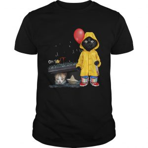 Black Cat Oh Shit Cat Pennywise IT  Unisex