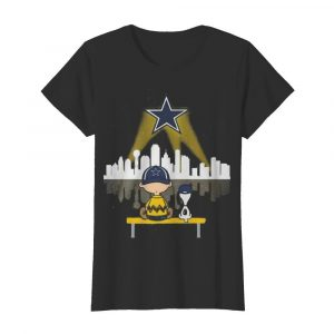 Charlie brown and snoopy dallas cowboys football  Classic Women's T-shirt