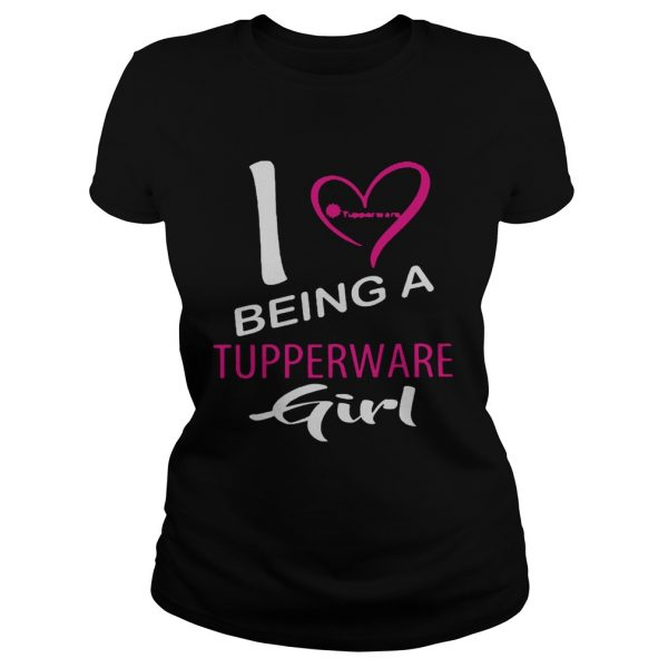 I Being A Tupperware Girl Heart  Classic Ladies