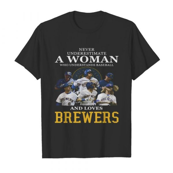 Never underestimate a woman who understands football and loves brewers  Classic Men's T-shirt