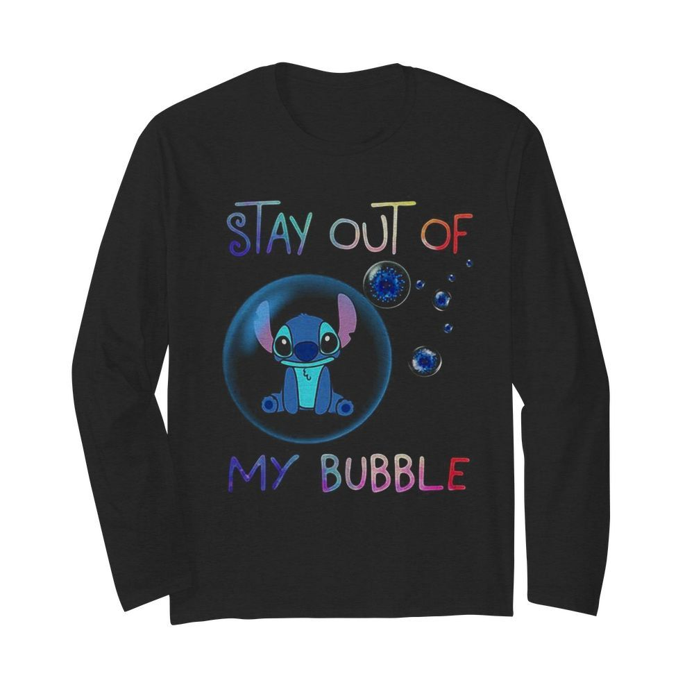 Stitch stay out of my bubble covid-19  Long Sleeved T-shirt