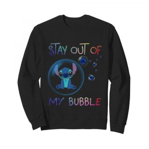 Stitch stay out of my bubble covid-19  Unisex Sweatshirt