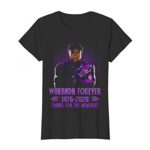 Black panther rip chadwick wakanda forever 1976 2020 thanks for the memories  Classic Women's T-shirt
