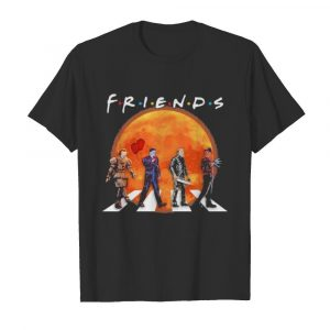 Halloween horror characters crossing the line friends moon  Classic Men's T-shirt