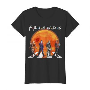 Halloween horror characters crossing the line friends moon  Classic Women's T-shirt