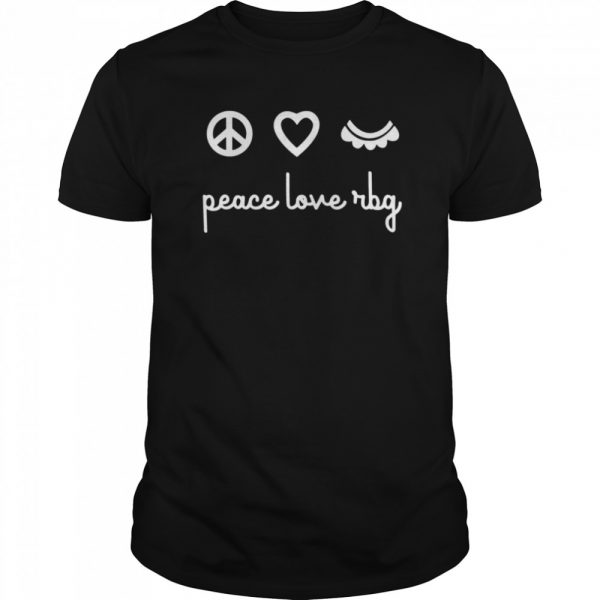 Ruth Bader Ginsburg Peace Love RBG  Classic Men's T-shirt