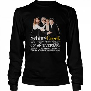 Schitt Creek 05th Anniversary Thank You For The Memories Signature  Long Sleeved T-shirt