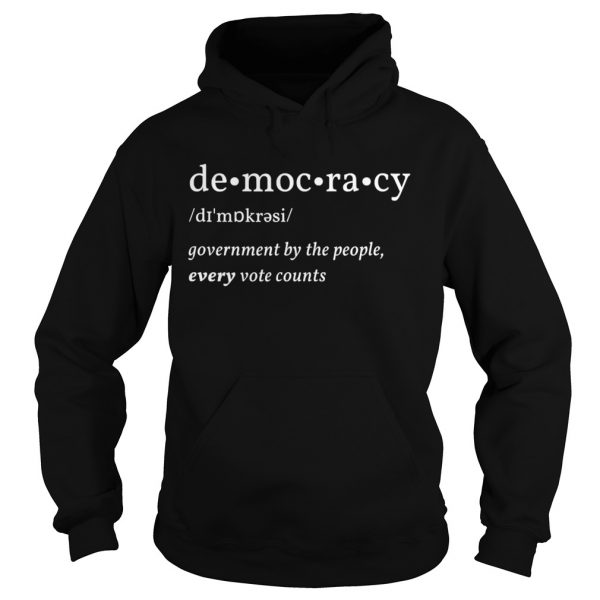 Democracy Government By The People Every Vote Counts Biden Trump 2020 Election  Hoodie