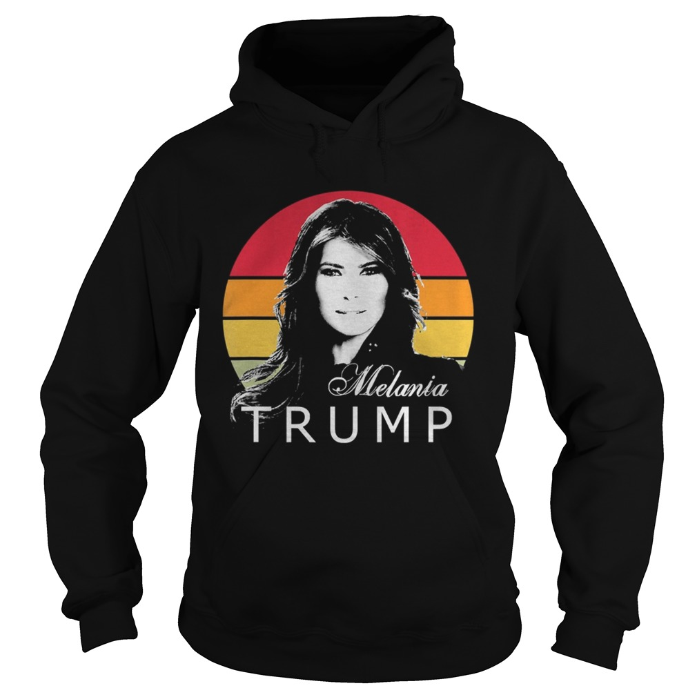 Melania trump first lady of the united states vintage retro  Hoodie