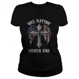 One nation under god wings american flag  Classic Ladies