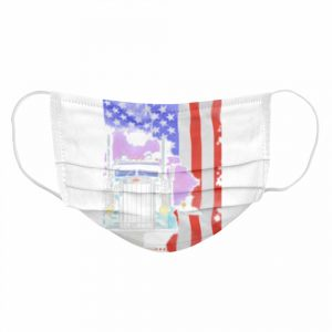 Perfect Blood Inside Me Trucker American Flag 2021  Cloth Face Mask