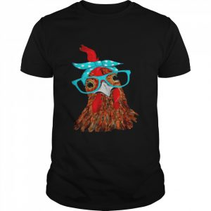 Chicken with bandana headband and glasses  Classic Men's T-shirt